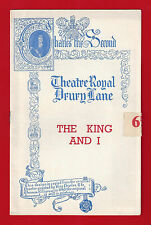 "Rodgers & Hammerstein ""KING AND I"" Valerie Hobson 1953 London Playbill"
