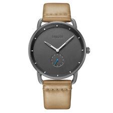 Baogela Men's Watches Quartz Movement Brown Leather Watchband Simple Style Watch