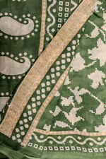 Vintage Indian Pure Cotton Saree Recycle Printed Sari Handloom Textile Sarong
