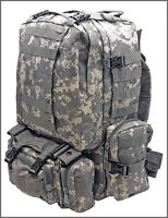 LARGE ASSAULT TACTICAL BACKPACK RUCKSACK - ACU DIGITAL CAMO 600 DENIER FABRIC