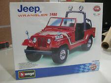 BURAGO JEEP WRANGLER 1980 RED- DIE CAST METAL-1/24 NUEVO Y CON PRECINTO!!