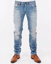 NEUF-replay Lenrick-w38 l34-Light Blue Denim-regular Jeans-waitom 38/34