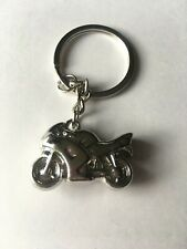 Men's Silver Motorcycle Biker Keyring Keepsake Keys Rucksack House Gift Idea