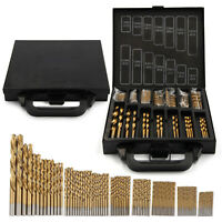 99Pcs Drill Bit Titanium Coated Metal HSS Twist Drill Bit Steel Brick Set Tools