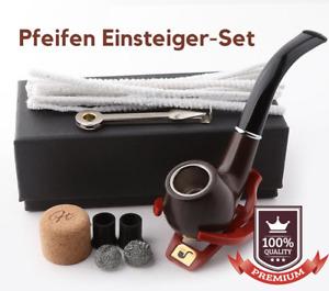 Pfeifen Einsteiger-Kit / Starter-Set inkl Zubehör Tabak Rauchen Holzdesign 18tlg