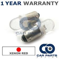 2x XENON rosso BAX9S H6W 434 LUCI DI POSIZIONE Upgrade TESTATA LAMPADINE LED