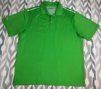 Nike Golf Men's Short Sleeve Polo Button Front Shirt Teal Bend Dry Fit Size XL