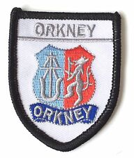 Orkney Scotland Embroidered Patch (AO62A)