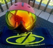 CP Cuma ski helmet with flash gold mirror Visor New Size 58-60.