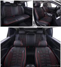 PU Cuir & Tissu Noir Set Complet Siège Housses pour Honda Civic Accord Cr-V Hr-V