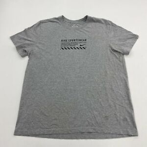The Nike Tee Mens XL Gray Short Sleeve Crew Neck Nike Sportswear Spell Out Front