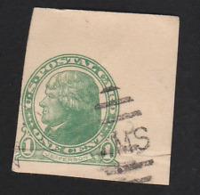 USA----- Postcard,    Jefferson,   1c,   Used