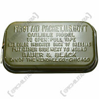 Original Carlisle Model First Aid Packet - WW2 Genuine Soldier Kit Tin Army Box