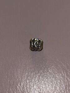 Pandora  Pumpkin Halloween 790393 Jack O Lantern Silver Charm Retired