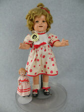 "18"" antique composition Ideal Shirley Temple Doll w porcelain doll ""TLC"""