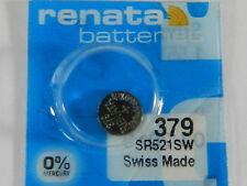 Renata 379 SR521SW Batteries Button Cell ,1 Pc