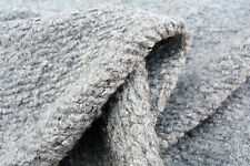 D68 BOILED WOOL-ALPACA A MELODY LIGHT GREY CHUNKY BRIOCHE BOUCLE SUPER SOFT KNIT