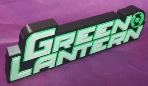 Green Lantern  - 3D Printed comic book logo - This is a great piece of shelf art