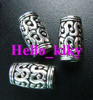 50 Pcs Tibetan silver crafted barrel spacer beads A984