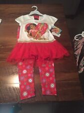Elena Of Avalor, Two Piece Tunic And Leggings Floral Outfit