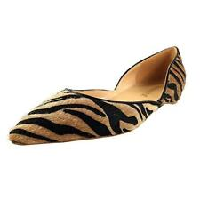 Fashion Women's Tiger Pattern Loafers Pointy Toe Sandals Casual Shoes Slip On