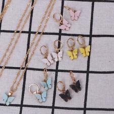 Korean style earrings fashion color butterfly earrings necklace setSPDE
