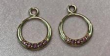 PANDORA | 14K GOLD RHODOLITE COMPOSE EARRINGS *NEW* 250445RHL RETIRED 585 ALE US