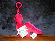 "Neopets Chomby Red Clip On Stuffed Figure Plush Dinosaur Toy 6-1/2"" long"