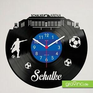 GE_Schalke Schallplattenuhr - Made in Germany zu 100%