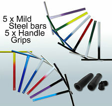 5 x Scooter Powder coated Mild Steel handlebar + 5 x Comfy handlebar black grips