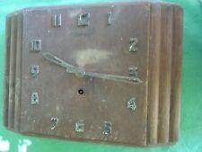 """Pendule horloge année 1940 """"HERMES"""" bois et métal ancienne"""