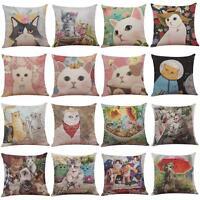 Cute Cat Home Decoration Festival  Sofa Waist Throw Pillow Case Cushion Cover