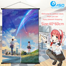 Japanese Anime movie Wall Poster Scroll kimi no na wa your name Home Decor Gift