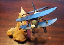 The Metal Man - Spark Plug Airplane - Art Sculpture w/Driftwood Base - Al Speert