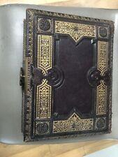 Antique Victorian Photo Album Music Box