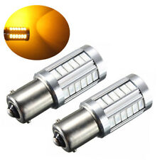 2x Car Led Bulb BA15S P21W 1156 Backup Reverse Light 33-SMD 5630 5730 12V Amber