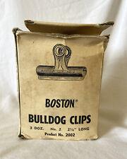 Vintage Boston Bulldog Clips Original Box Office Supplies