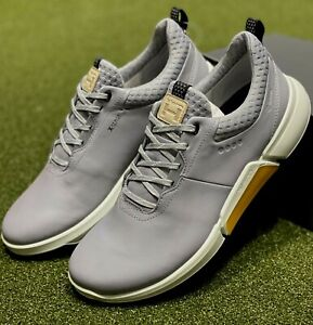 ECCO Biom H4 Spikeless Men's Golf Shoes Size 44 Silver US 10 - 10.5 NEW #86007