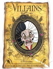 Rare Le 700 Paris Disney Pin✿ Cruella DeVil Villain Framed Portrait Dlrp Jeweled