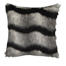 SASKIA BLACK Faux Fur Square Filled Cushion - Ultima Logan and Mason