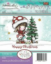 Winnie O Christmas Tree - PD7961 Polkadoodles Clear Cling Stamp