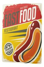 Tin Sign Kitchen Hot Dog