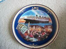 Bradford Exchange ~ The Smoking Room ~ Titanic: Queen Of The Ocean ~ Coa #4043A