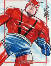 Marvel Greatest Heroes 2012 - Color Sketch Card by Marcelo Ferreira - Giant Man