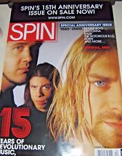 "Nirvana - Rare Promo Poster ""Spin Magazine cover"" Exc. New cond. / 24 x 36"""