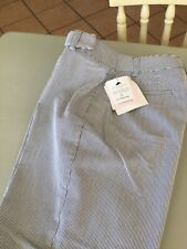 Liz Claiborne Audra Ladies Cropped Trousers Grey/White Trousers Size 8/10 BNWT