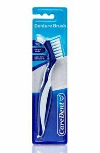 6 x CareDent Denture Brush Dental Toothbrush :: Rubber :: Dual Purpose :: RARE