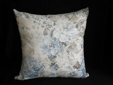COUNTRY VINTAGE ROSE BLUE CREAM FLORAL CLASSIC CUSHION COVER 45CM AU MADE