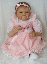 "22"" Handmade Reborn Baby Doll Newborn Lifelike Soft Silicone Vinyl Girl Dolls"