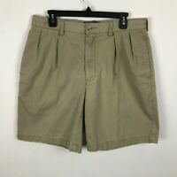 Polo Ralph Lauren Shorts Size 34 Beige Pleated Front Tyler Chino Cotton Mens